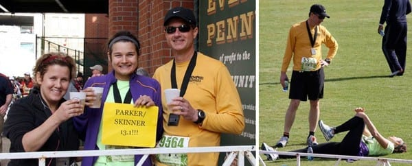 Collage of Erin Parker and her family at the St. Jude Half