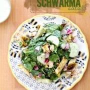 Chicken Schwarma Salad