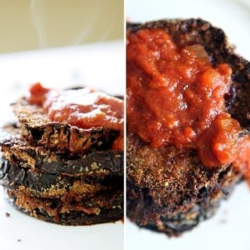 Baked Eggplant Parmesan // The Speckled Palate
