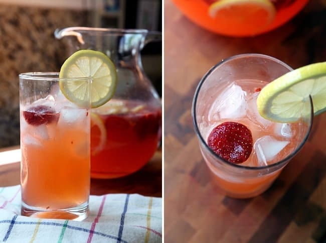 Instead of making regular lemonade this summer, let's whip up some sweet Strawberry Lemonade! Lemons are squeezed for their juice and mixed with water in a pitcher. Fresh strawberries are mulled, then mixed with granulated sugar, and poured into the lemonade mixture. Stir until the sugar dissolves into the liquid, then refrigerate before pouring a glass! This refreshing lemonade is the perfect way to cool down on a hot summer afternoon.