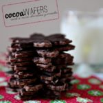 Cocoa Wafers with a Mint Chocolate Ganache