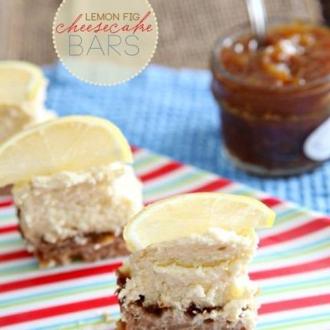 Lemon Fig Cheesecake Bars