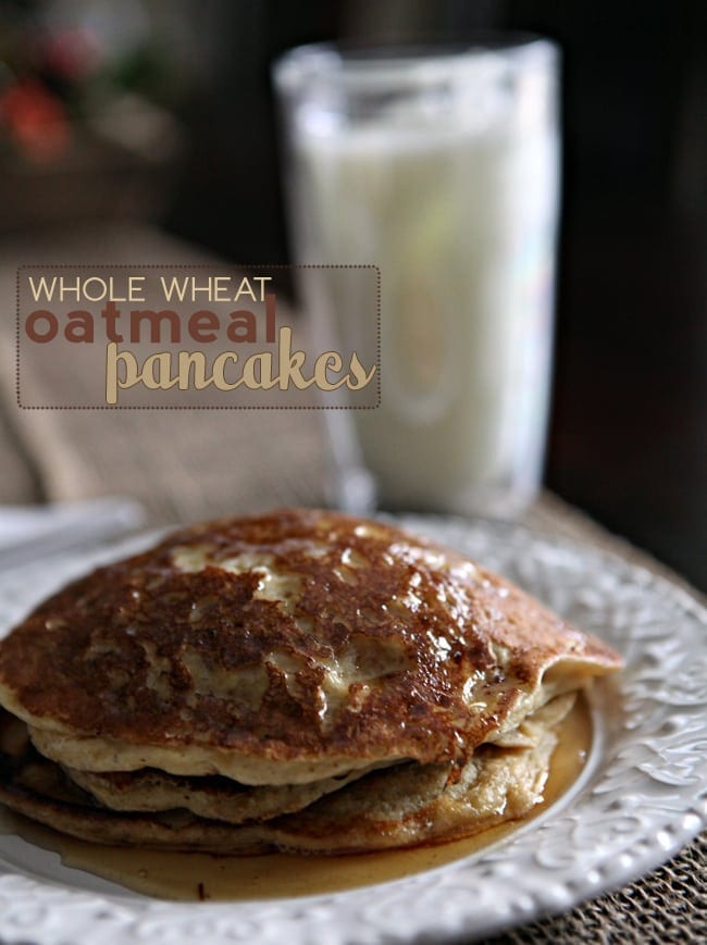 How to make Whole Wheat Oatmeal Pancakes.