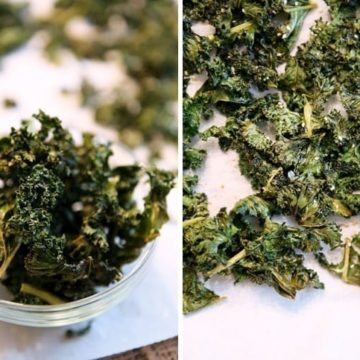 Spicy Kale Chips // The Speckled Palate