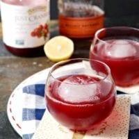 Blizzard Cranberry Bourbon Cocktail