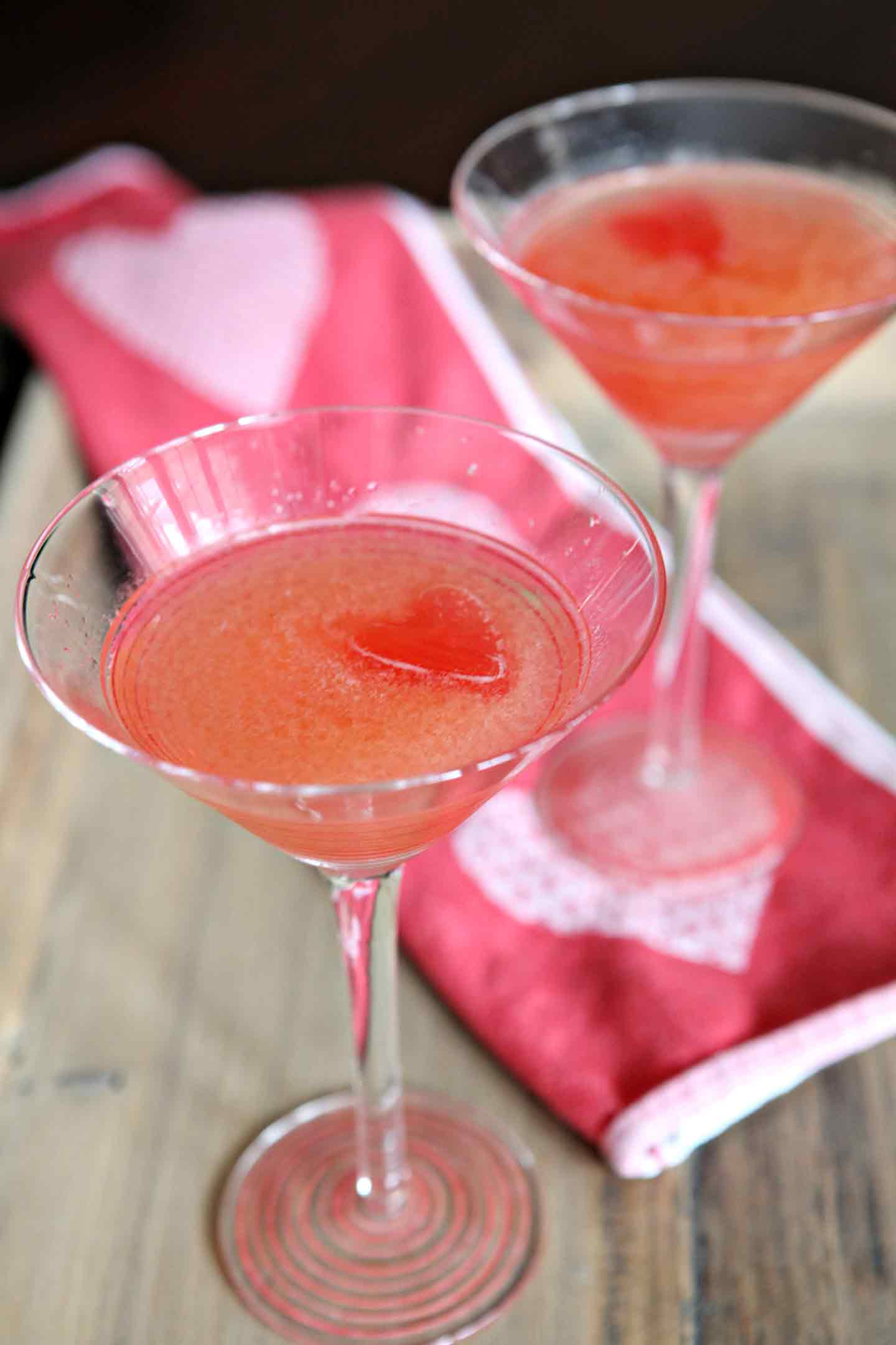 A classic cocktail, the Cosmopolitan, makes a delicious beverage for any holiday get together, especially Galentine's, Valentine's Day, or a girls' night out. Similar in flavor to a Sea Breeze, this liqueur drink combines bitter and sweet beautifully. Made with vodka, Cointreau, cranberry juice and lime juice, this strong drink sips easy for any celebration or get-together.