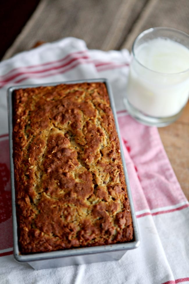 Walnut and Pecan Banana Bread // The Speckled Palate