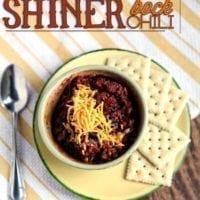 Tuesday's Dinner:Shiner Bock Chili