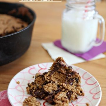 Whole Wheat Apple Walnut Chocolate Chip Cookie Cake // The Speckled Palate
