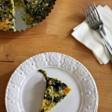 Rainbow Chard and Scallion Frittata // The Speckled Palate
