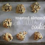 Toasted Almond Dark Chocolate Chip Cookies