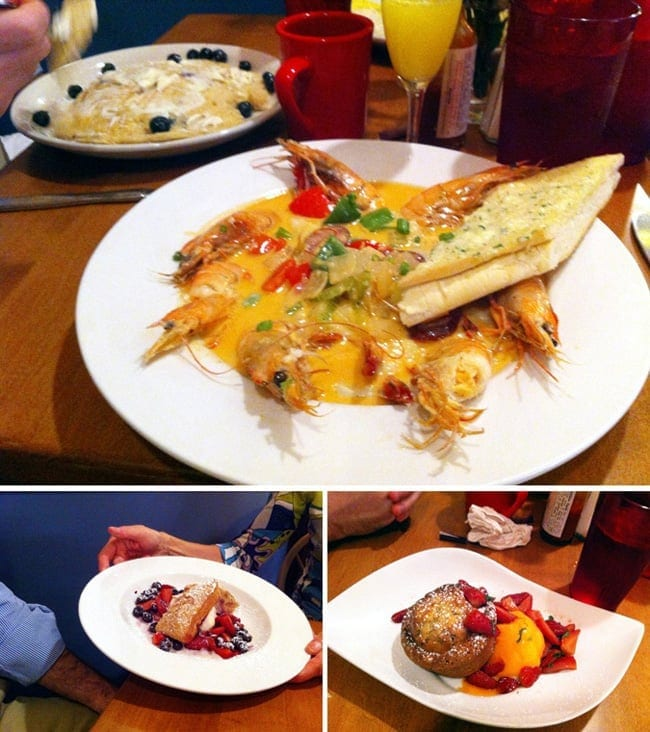 Collage of brunch food at Red Gravy in New Orleans