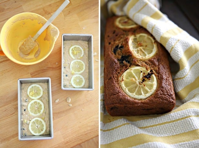 Lemon and Blueberry Bread // The Speckled Palate