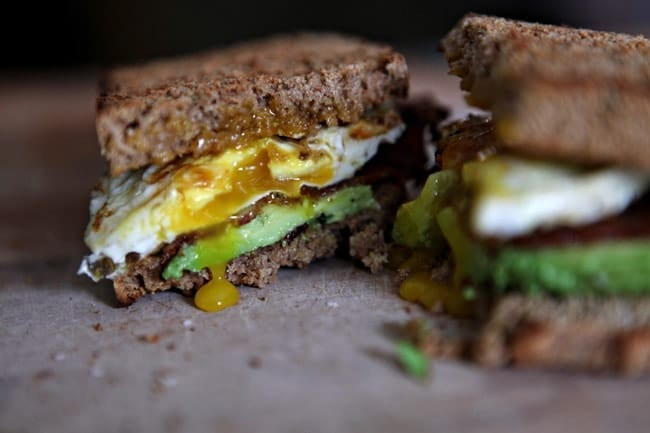 The Bacon, Avocado and Egg Sandwich // The Speckled Palate