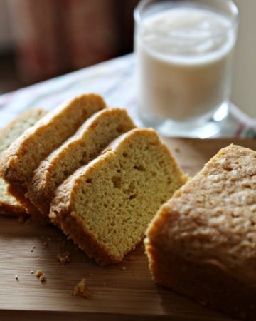 Dairy Free Olive Oil Vanilla Bean Pound Cake // The Speckled Palate