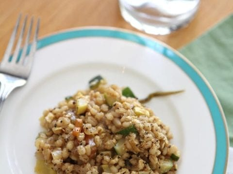 Veggie Fried Barley // The Speckled Palate