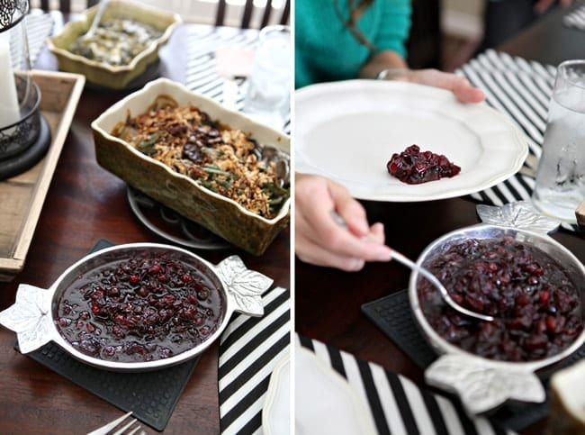 Sweet and spicy Drunken Cranberry Sauce pairs perfectly with a traditional Thanksgiving dinner of turkey, gravy and stuffing. A quick, easy and delicious accompaniment for your Thanksgiving feast!