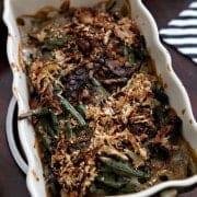 Thanksgiving Food 2013 // Fresh Green Bean Casserole
