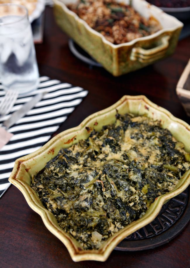 A take on the ever-popular Spinach Madeline, Kale Madeline is heartier than the dish that inspired it. Fresh kale is cooked and tossed with onion, seasonings and cheese before baking into a casserole. This dish makes for a fantastic Thanksgiving or Christmas side dish.
