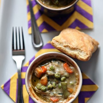 Individual Turkey Pot Pies, perfect for Thanksgiving leftover turkey // The Speckled Palate