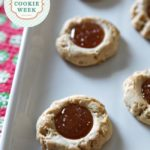 Dairy-Free Salted Caramel Thumbprint Cookies