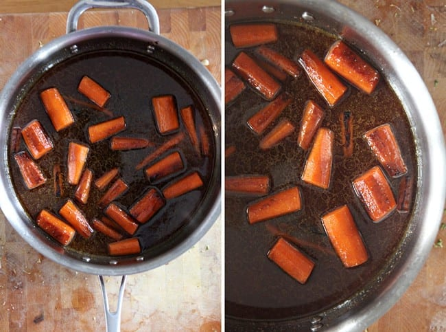 Christmas Potluck Recipes: Cider Carrots // The Speckled Palate