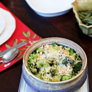 Christmas Potluck Recipes: Parmesan Pine Nut Broccoli // The Speckled Palate