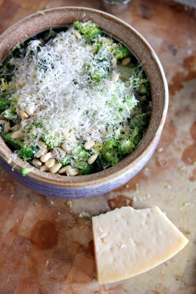... Potluck Recipes: Parmesan Pine Nut Broccoli // The Speckled Palate