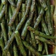 Christmas Potluck: Roasted Green Beans