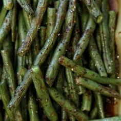 Christmas Potluck Recipes: Roasted Green Beans // The Speckled Palate