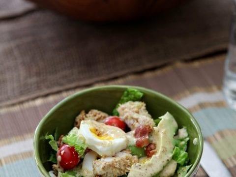 Avocado and Panko-Crusted Chicken Cobb Salad
