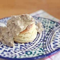 Southern Biscuits and Gravy // The Speckled Palate