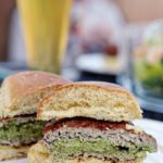Super Bowl Party: Spinach and Artichoke Stuffed Turkey Burgers