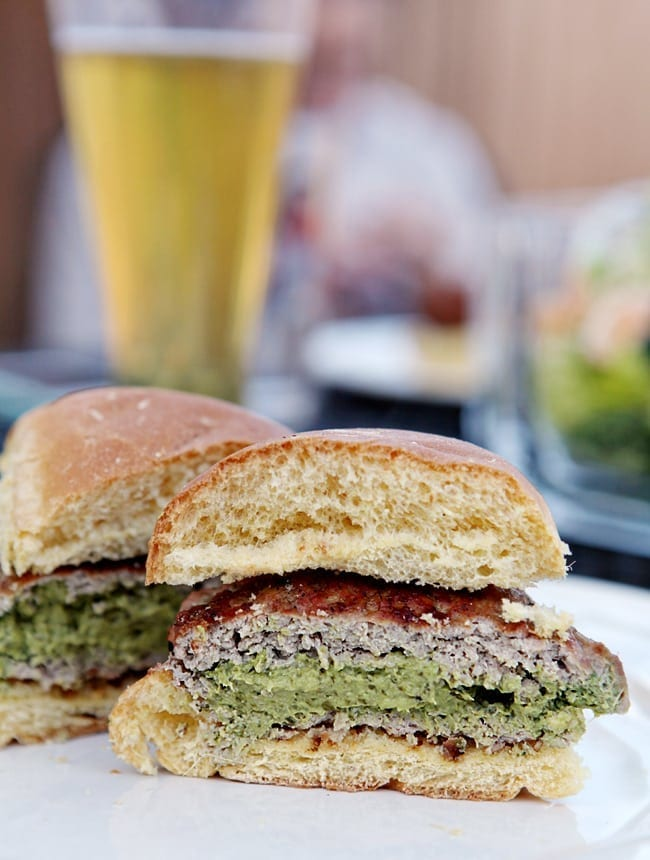 Super Bowl Party Food: Spinach and Artichoke Turkey Burger // The Speckled Palate