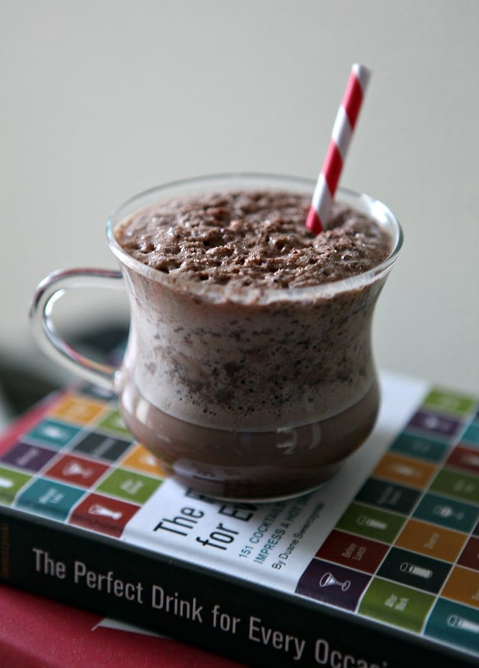 Cool down this winter with homemade Iced Cocoa. The drink is sweet and perfect to split with a sweetheart, especially while you're bundled up!