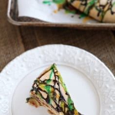 Raspberry and Cream Cheese King Cake, just in time for Mardi Gras and Fat Tuesday! // The Speckled Palate