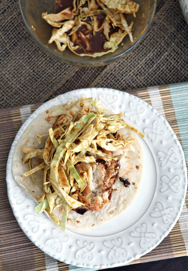 ... Food: Soy Seared Cod Tacos with Spicy Slaw // The Speckled Palate