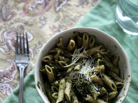 How to make Basil Pesto for pasta or pizza // The Speckled Palate