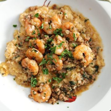 It's almost Fat Tuesday! We should celebrate carnival season with homemade Shrimp and Grits, which is actually perfect year-round and delightfully spicy.
