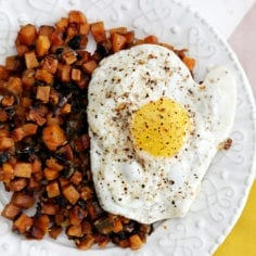 Recipe Review (and Runner Food): Sweet Potato Hash Browns from Food & Wine's December 2013 magazine // The Speckled Palate