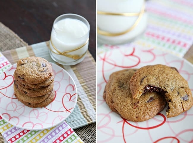 Dark Chocolate Chip Cookies // The Speckled Palate