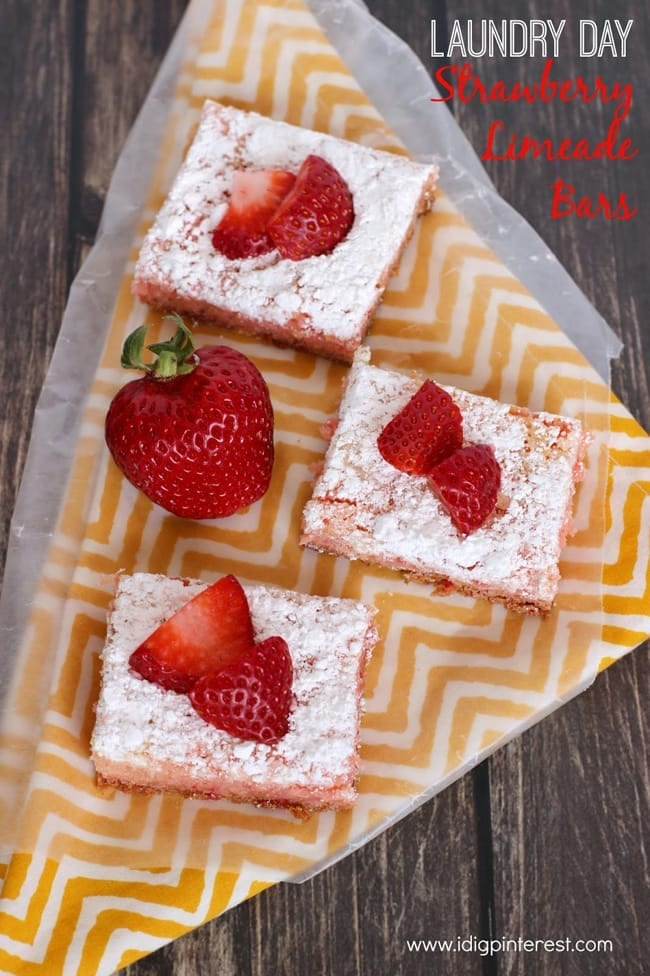 Strawberry Limeade Bars from I Dig Pinterest // That's Fresh Friday at The Speckled Palate
