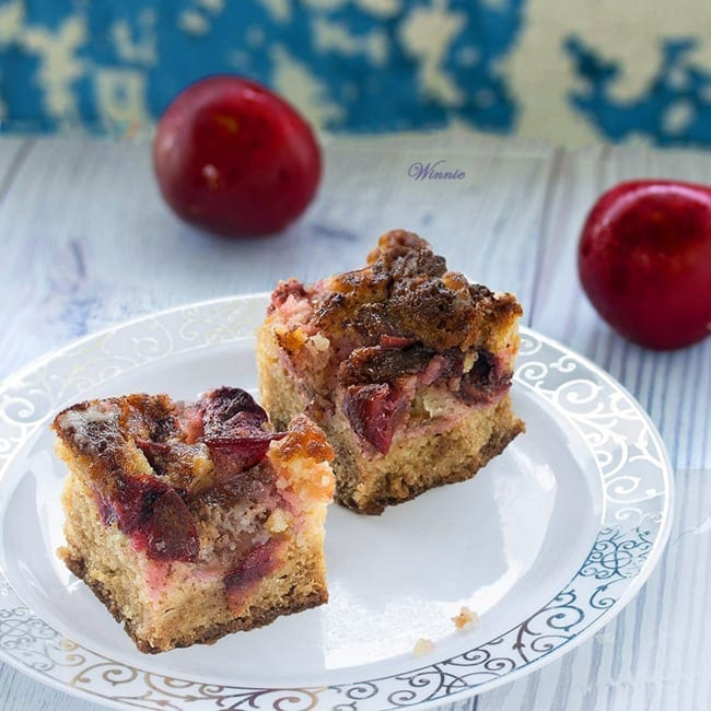 Plum Cake with Sugar Coating from Something Sweet // That's Fresh Friday at The Speckled Palate