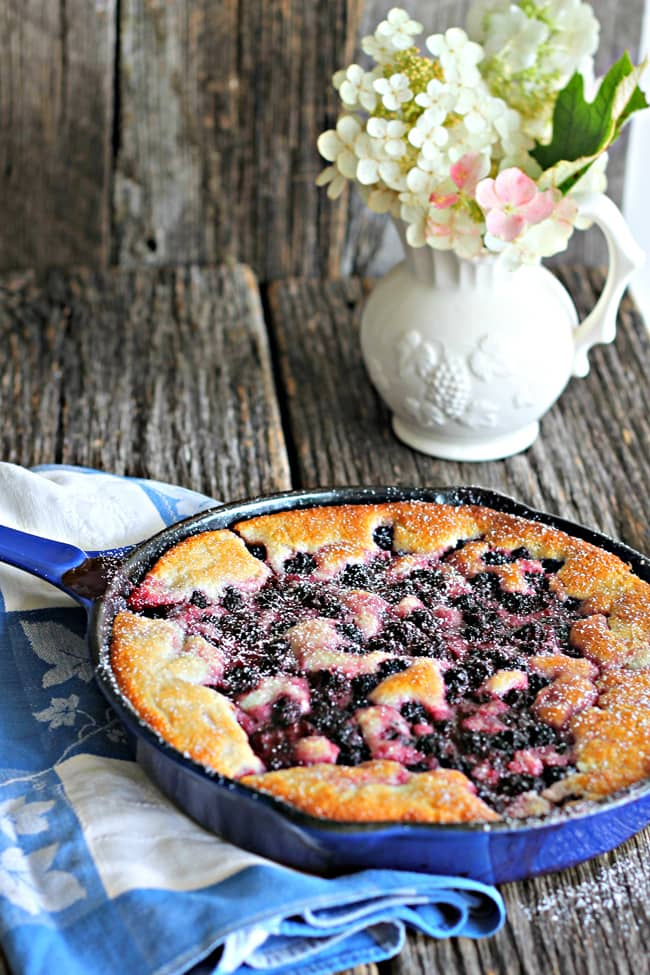 One-Cup Blackberry Cobbler from The Country Contessa // That's Fresh Friday at The Speckled Palate