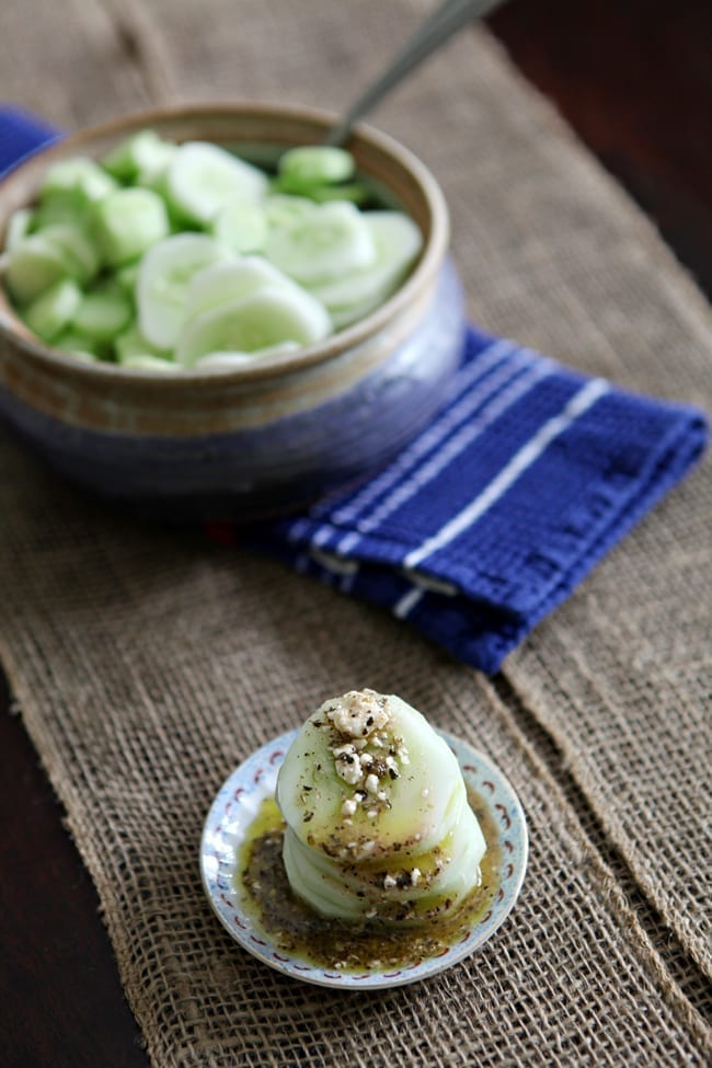 July 4th Food: Cucumber and Feta Salad // The Speckled Palate