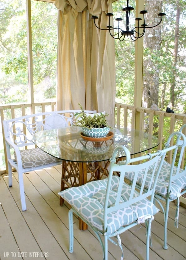 Porch Makeover for Under $100 from Up to Date Interiors // That's Fresh Friday at The Speckled Palate