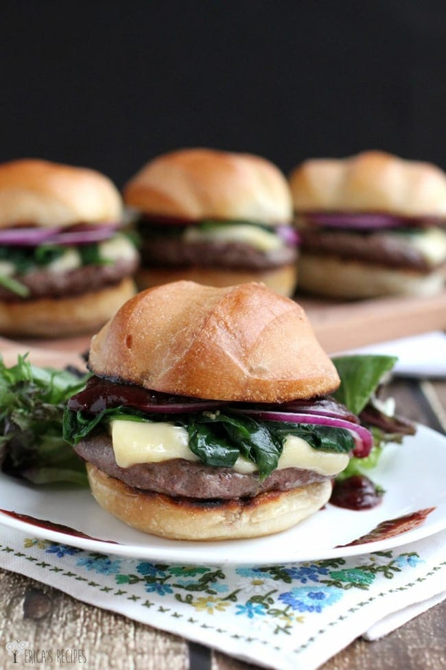 Cherry Chipotle Cheeseburgers from Erica's Recipes // That's Fresh Friday Link-Up at The Speckled Palate