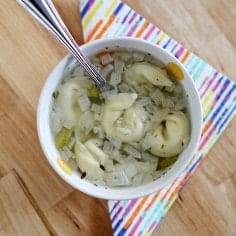 Crock Pot Chicken Tortellini Soup // Erin Skinner from The Speckled Palate for My Cooking Spot