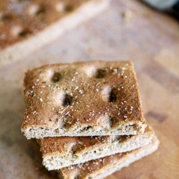 Whole Wheat Italian Focaccia Bread // The Speckled Palate