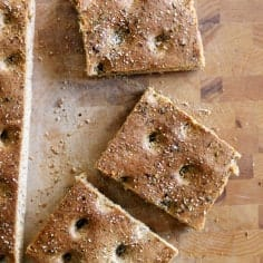 Whole Wheat Italian Focaccia Bread // The Speckled Palate